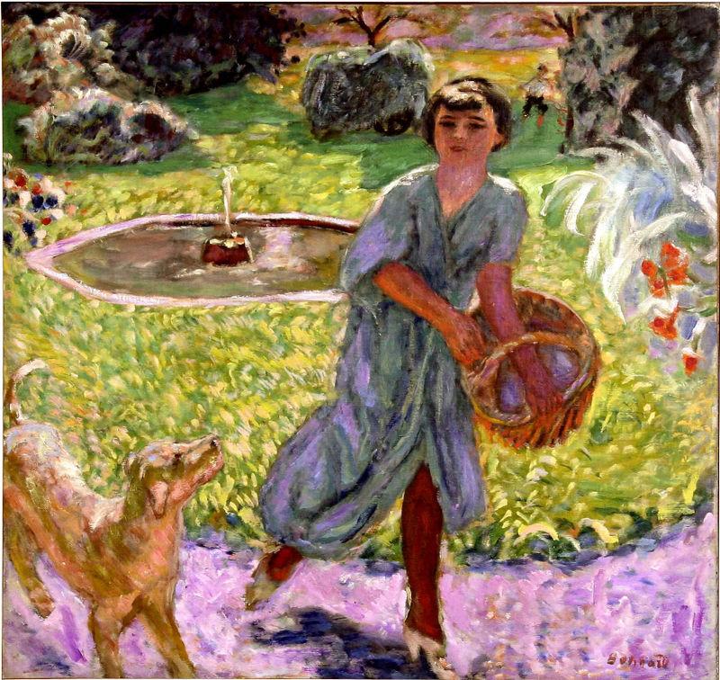 Bonnard Girl With Dog