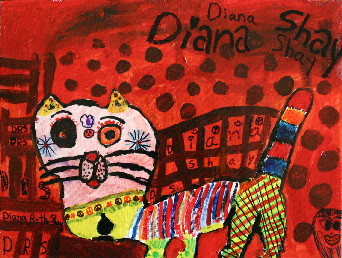6 - Soupor Troupor C-Red Cat - 9x12